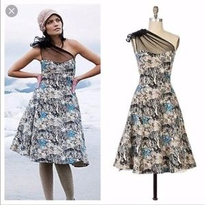 Anthropologie Into the Woods Dress by Tracy Reese